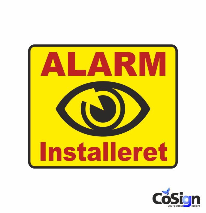 AL 2 alarm klistermærke