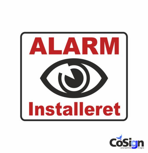 AL 2 hvid alarm klistermærke