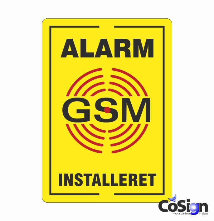 AL 39 GSM klistermærke