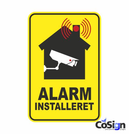 AL 4 alarm klistermærke