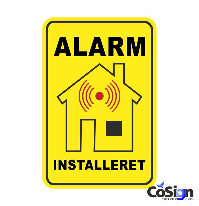AL 5 alarm klistermæker