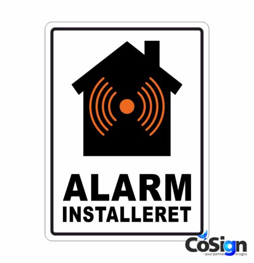 AL 6 alarm klistermærke