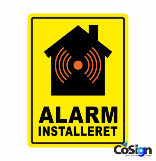 AL 6 gul bg alarm klistermærke