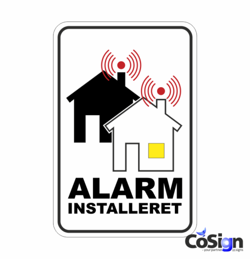 AL 7 alarm klistermærke