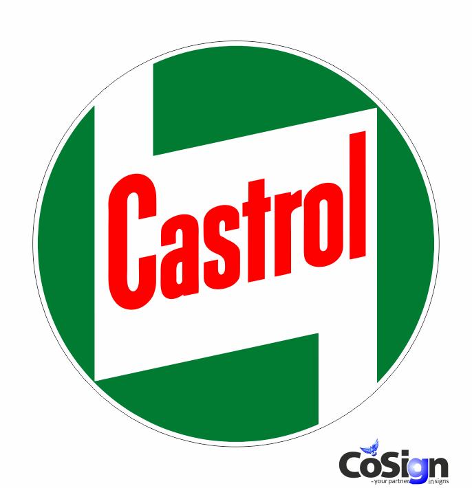 Sidste nye Castrol 3 - Cosign.dk - Benzin og Olie klistermærker CV-13
