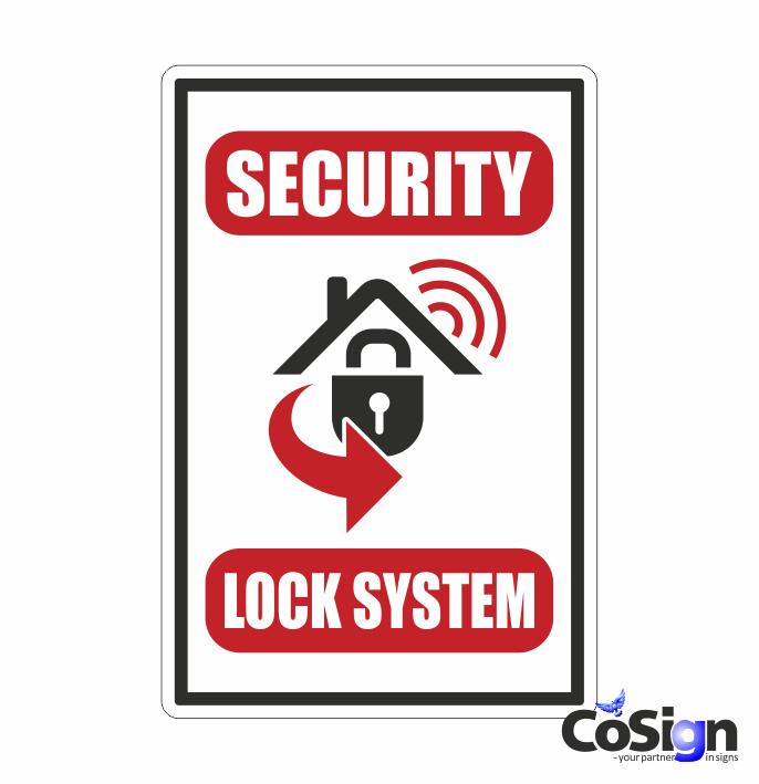AL 50 alarm klistermærke security