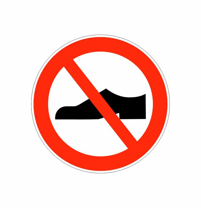 Forbuds piktogrammer Ryge hund sko • E skilte
