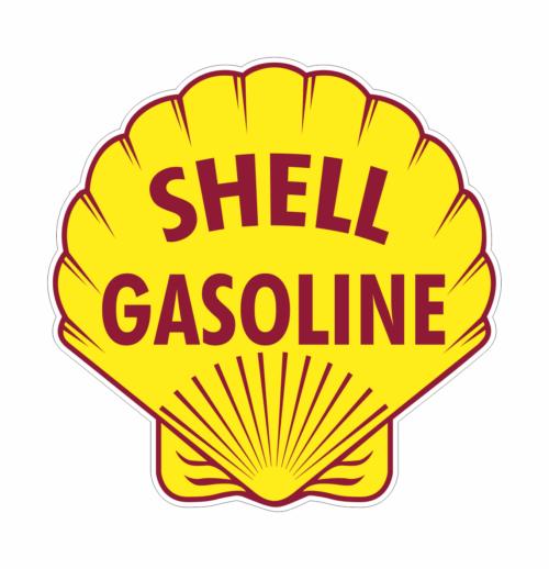 Shell 3 benzin klistermærke