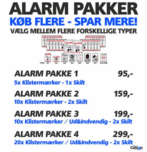 Alarm pakker