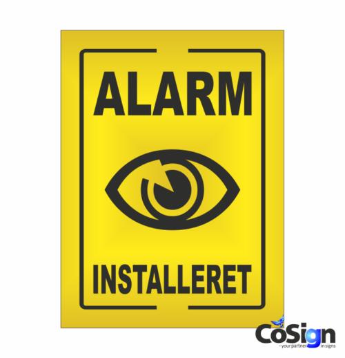 AL2-Reflex Alarm installeret skilt