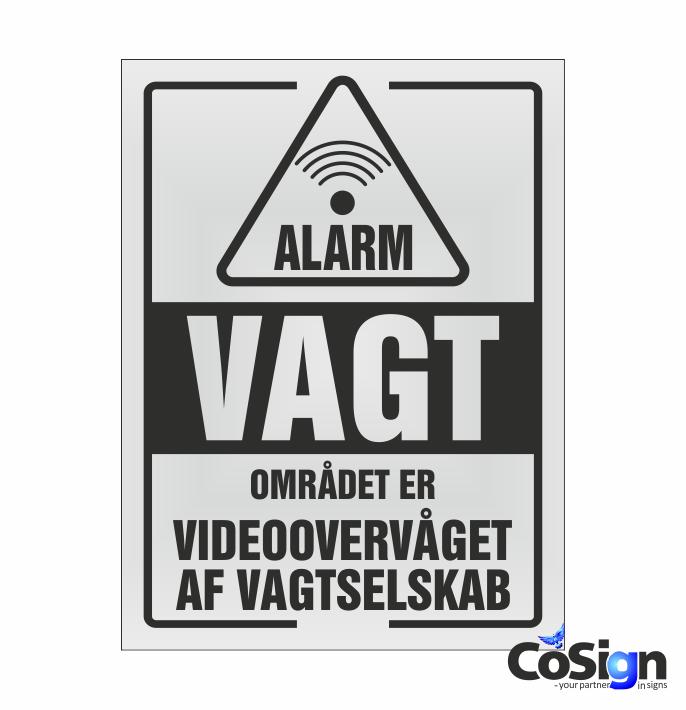 AL20-Reflex HVID Alarm Vagt skilt