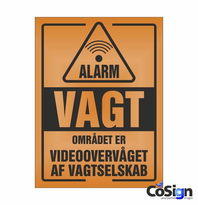 AL20-Reflex ORANGE Alarm Vagt skilt