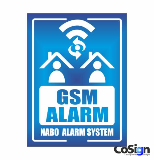 AL40-Reflex BLÅ GSM Alarm skilt