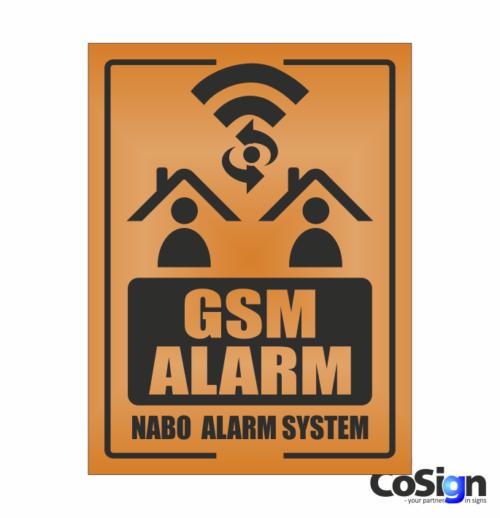 AL40-Reflex ORANGE GSM Alarm skilt