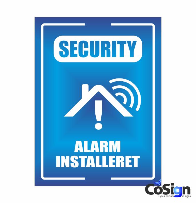 AL51-Reflex BLÅ GSM Alarm skilt
