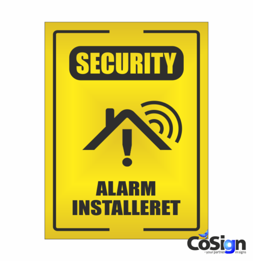 AL51-Reflex GUL security Alarm skilt