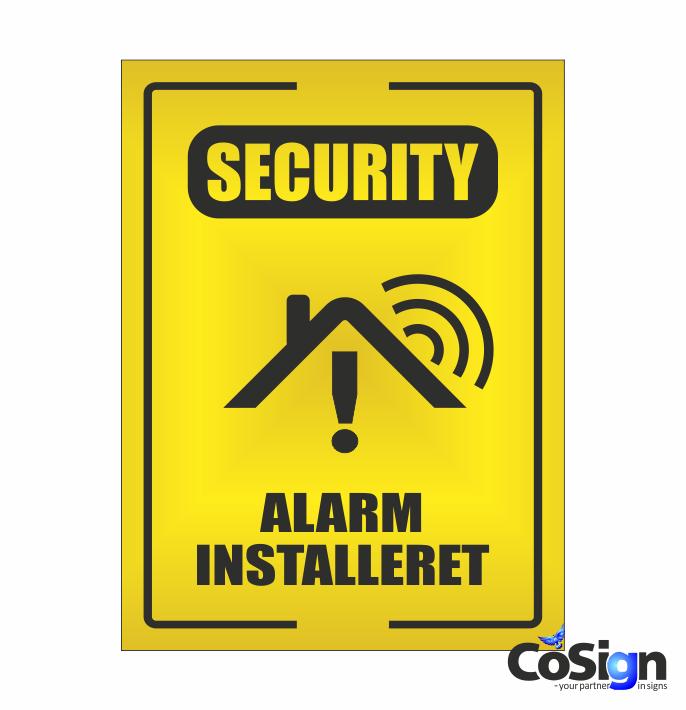 AL51-Reflex GUL security Alarm skilt