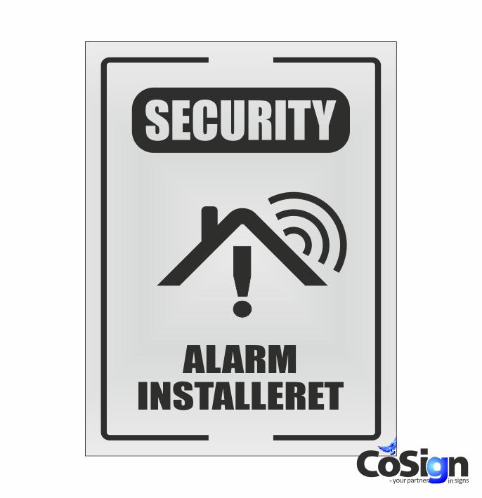 AL51-Reflex HVID GSM Alarm skilt