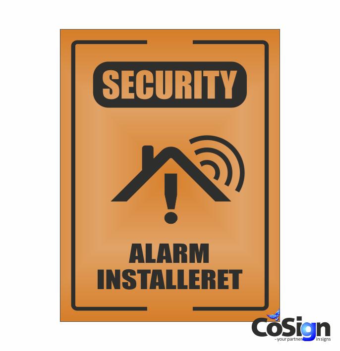 AL51-Reflex ORANGE security Alarm skilt