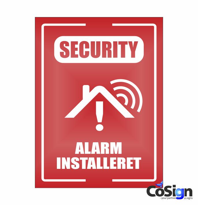 AL51-Reflex RØD GSM Alarm skilt