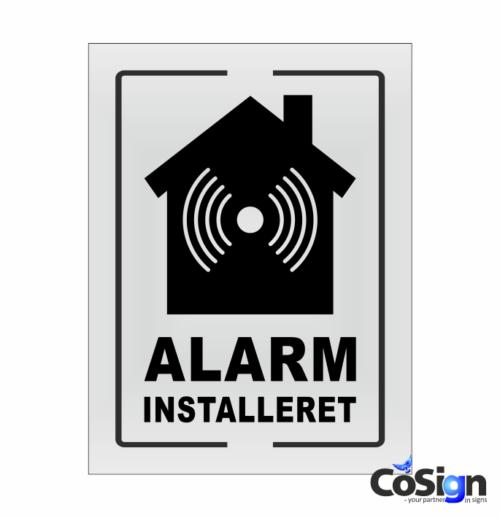 AL6-Reflex HVID Alarm installeret skilt