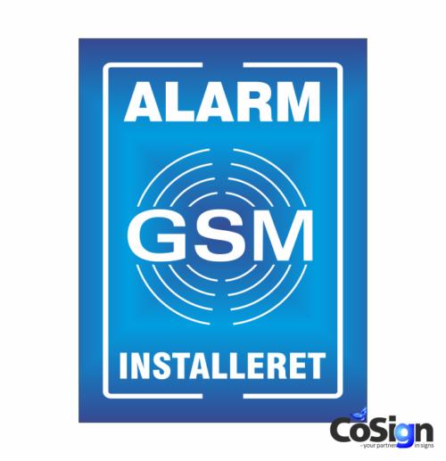 GSM39-Reflex BLÅ GSM Alarm skilt