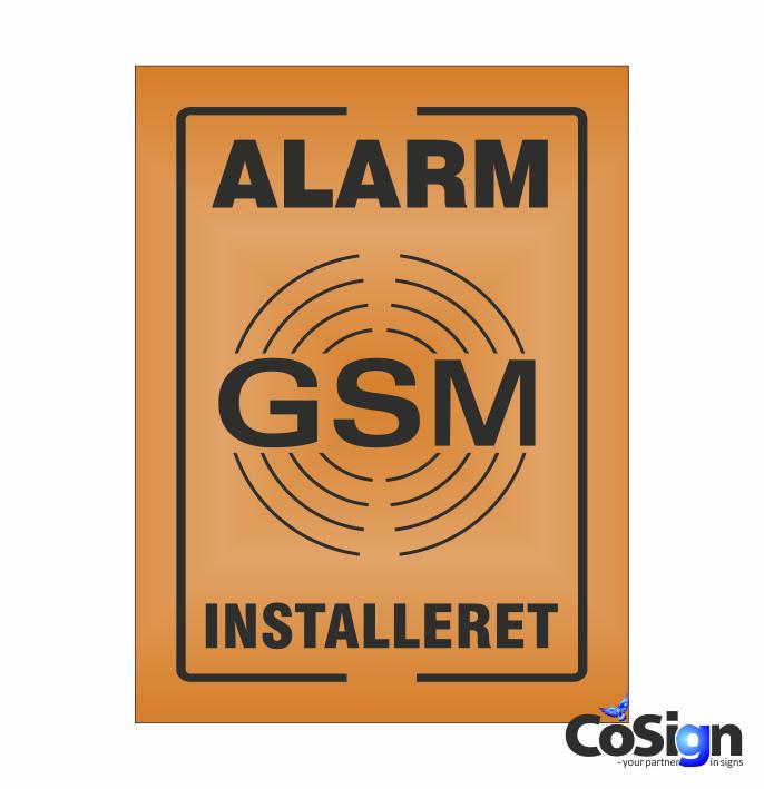 GSM39-Reflex ORANGE GSM Alarm skilt