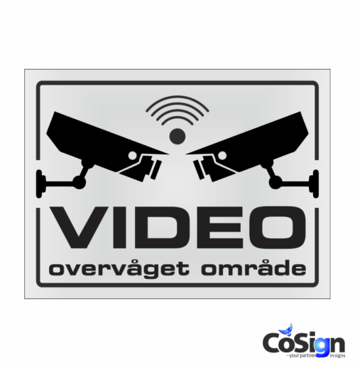 VI5-Reflex HVID Videoovervågning skilt