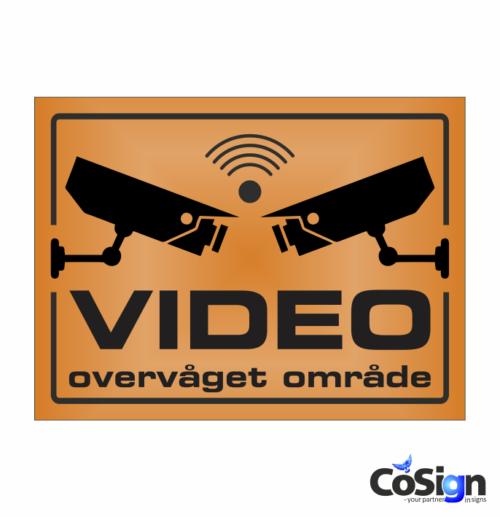 VI5-Reflex ORANGE Alarm skilt