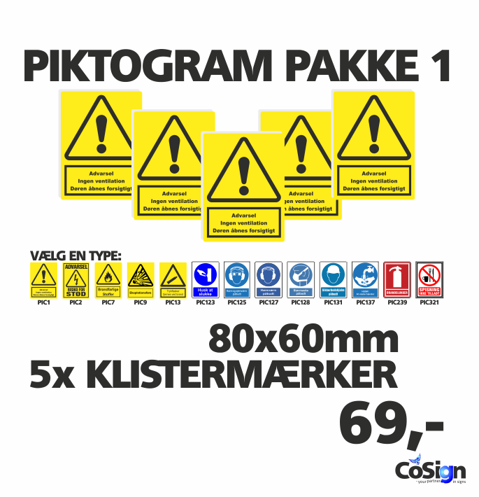 Piktogram pakker 80mm