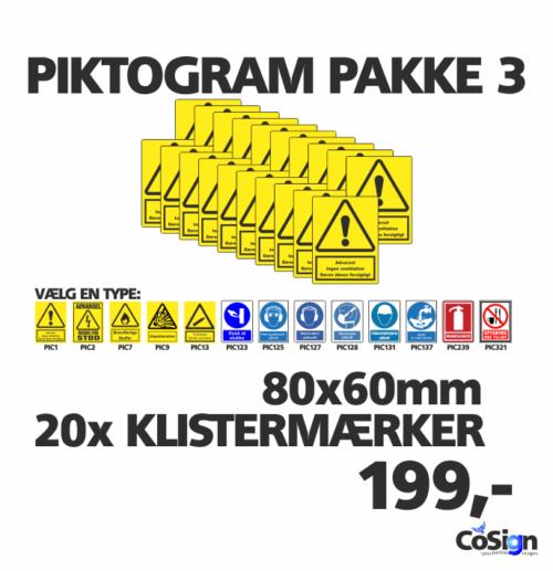 Piktogram pakker 80mm
