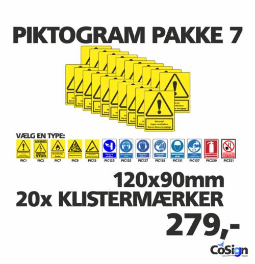 Piktogram pakker 120mm