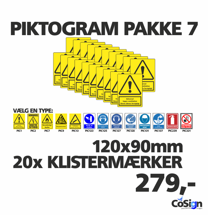 Piktogram pakker 120mm